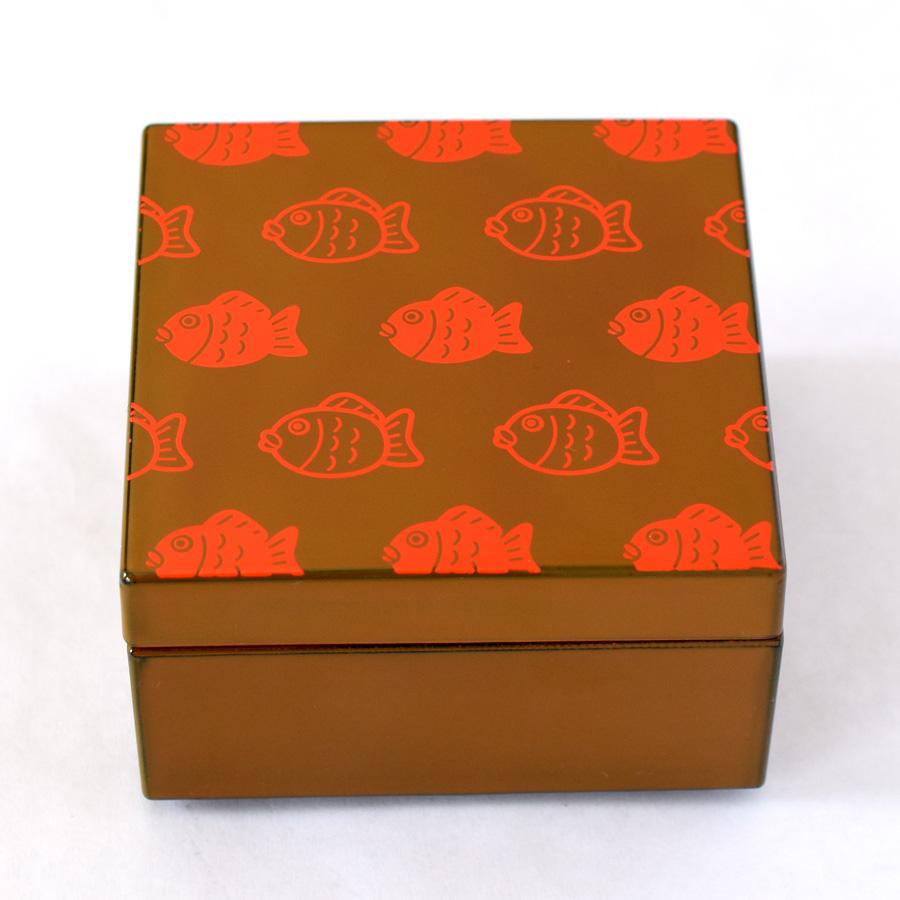 うるしこはこ 漆塗りの小箱 鯛